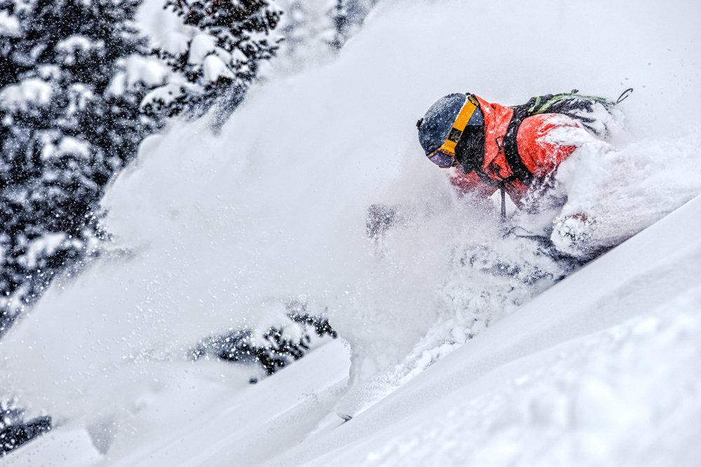 Adam Moszynski gets deep at Highlands. - © Liam Doran