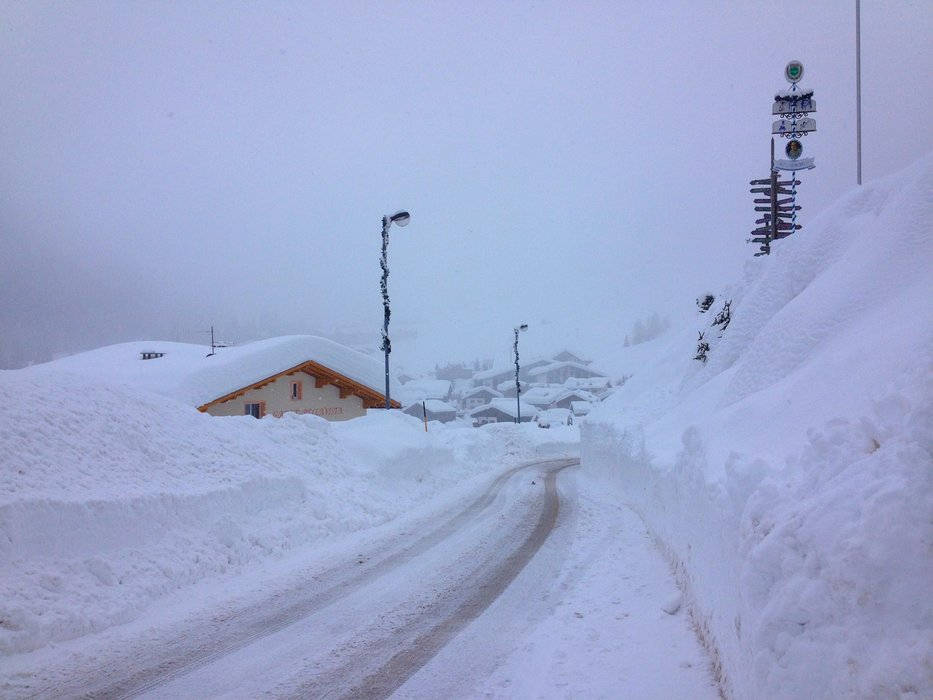 Arabba, Neve record 2 Feb 2014