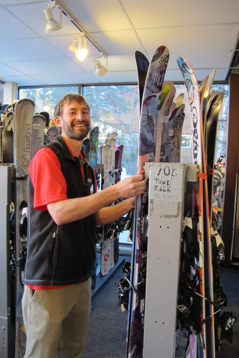 The awesome staff at Vail Sports/V21 got our boots and bindings tech'd up each day. - © Heather B. Fried