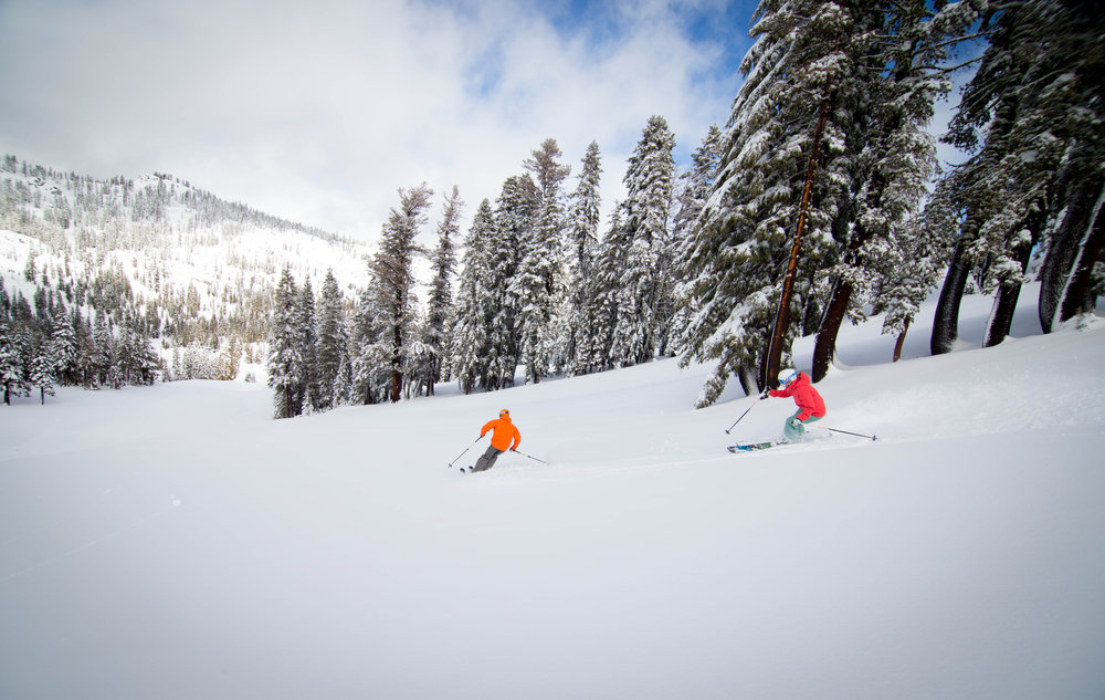 Big storm drops five and a half feet on Squaw Valley this past week allowing for expanded terrain and great conditions heading into the holiday weekend.  - © Squaw Valley