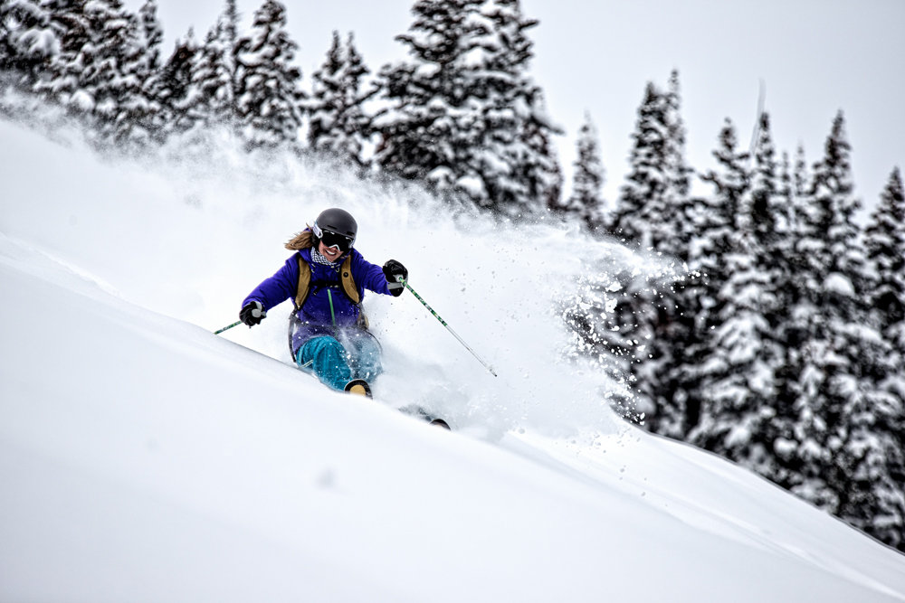 Deep powder is sure to make any skier smile. - © Liam Doran