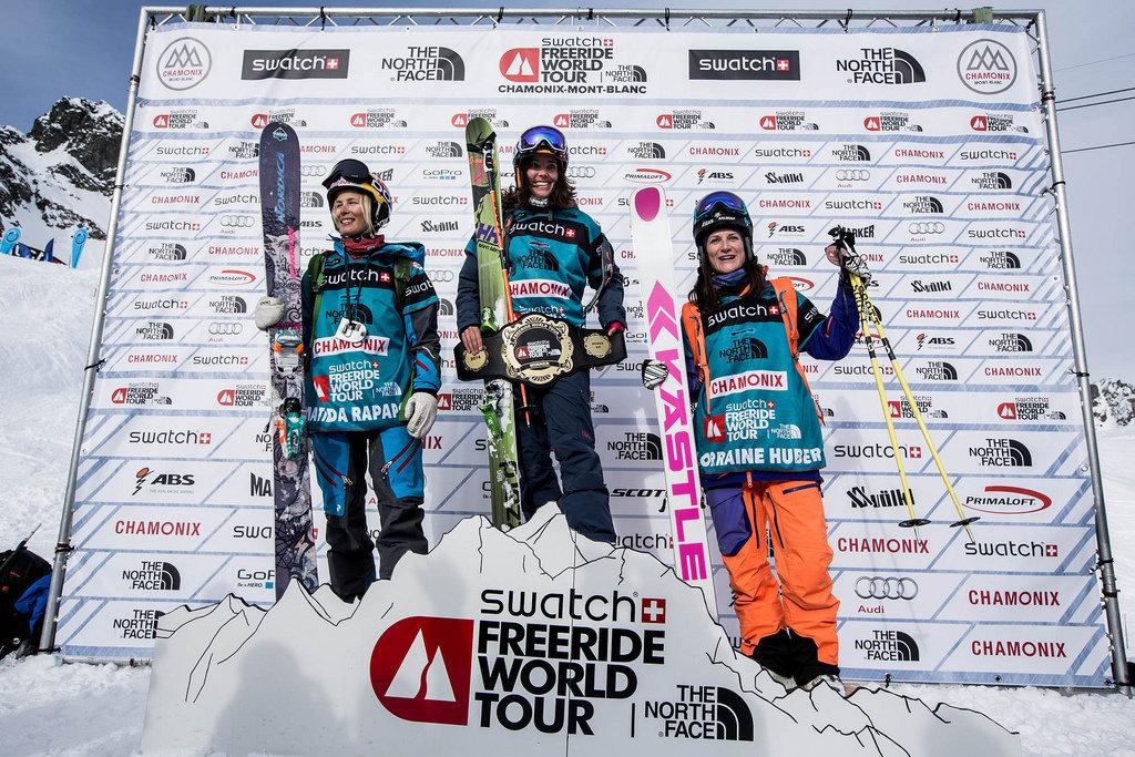 FWT 2014 : Tappa di Chamonix - Podio femminile snowboarder - © www.freerideworldtour.com
