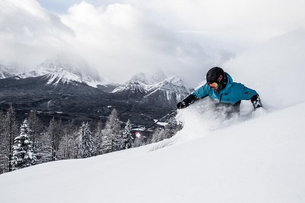 Skier, Keegan Capel at Lake Louise. - © Liam Doran