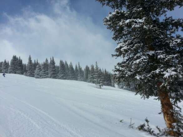 "Snowmass.  blue sky + 6-9"" new snow for Thursday."