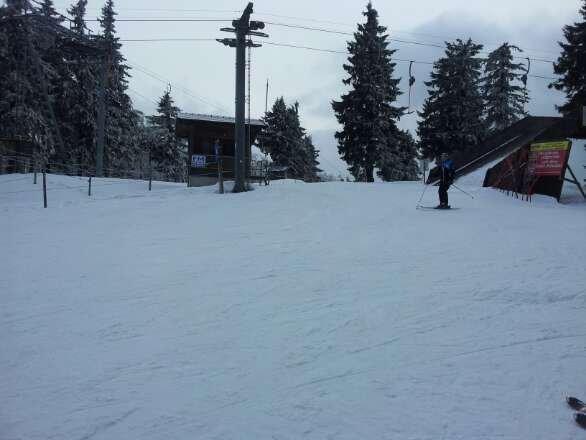 haben glück mit dem wetter, nebel ist weg und jetzt fahren wir richtig schön ski.