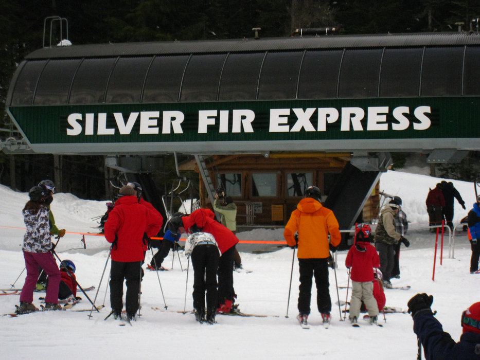Silver Fir Express accesses the newest terrain at Summit Central at Snoqualmie and the crossover to Summit East. - © Becky Lomax