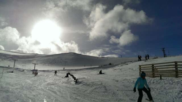 great day skiing, well worth a day trip even if there are only a couple of tows open. A little chilly at the top.