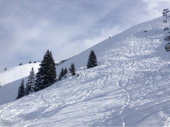 Wunderbarer Schnee, tolle Location