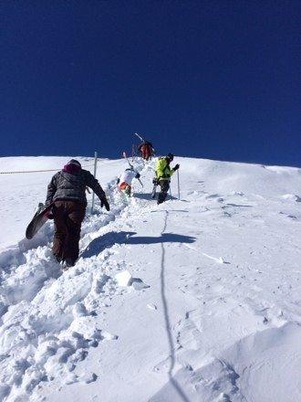 The hike up on peak 6