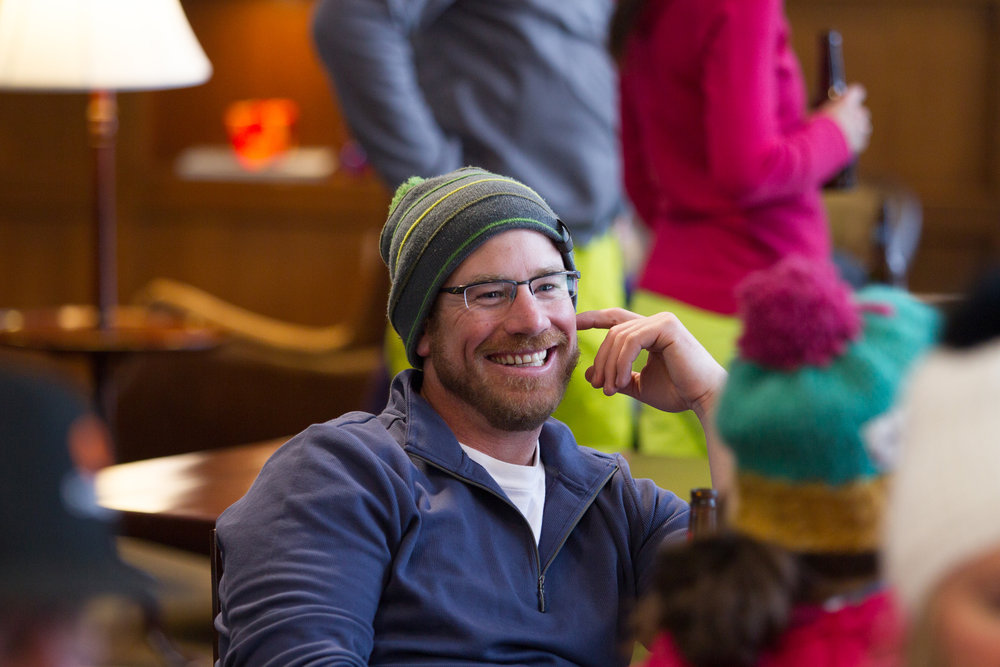All smiles at the OnTheSnow Ski Test après. - ©Cody Downard Photography