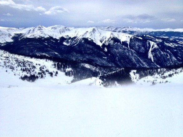 Montezuma - nice runs, groomed but super windy from noon on today!