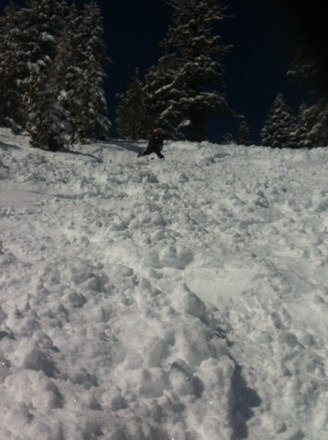 Epic day at wood like always fresh powder and great lines all day if u know how to find them