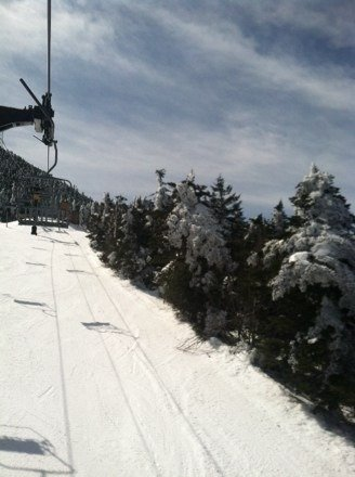 Hard in the morning, soft in the afternoon.  Beautiful day at Killington!