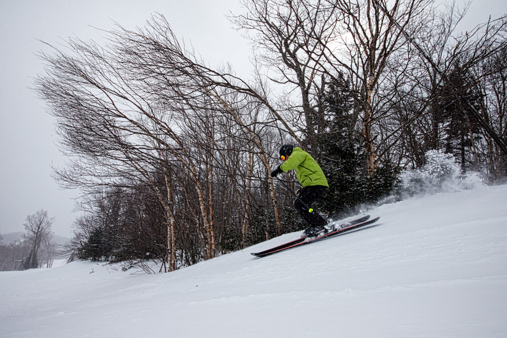 Great snow and wide open trails at Sugarbush, February 2014. - ©Liam Doran