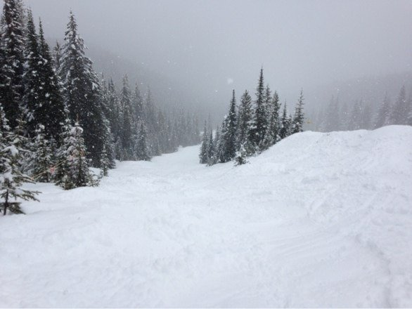 Slushy conditions new snow in last few days but very slushy and slow. Other than that good day some fresh snow found