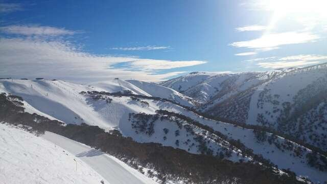 A fabulous Day out. Fantastic views with hard, fast runs on the hard packed. needs another dump of snow or it won't last much longer. Cheers Mt Hotham