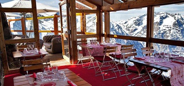 Panoramic views from Le Diable au Cœur in Les 2 Alpes