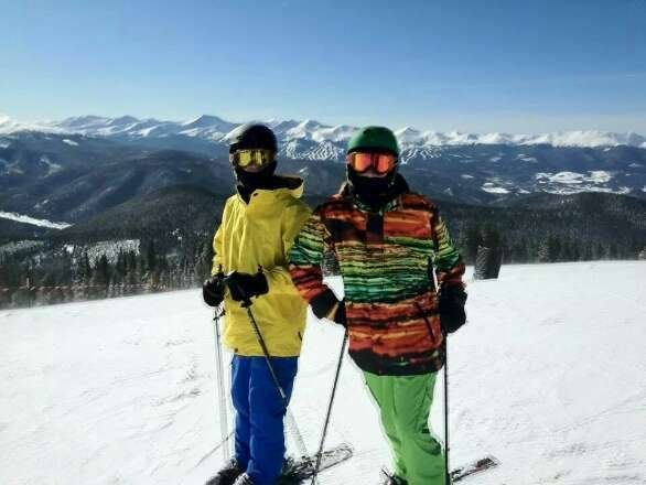 This was last year at the top of keystone.  look at those mountains