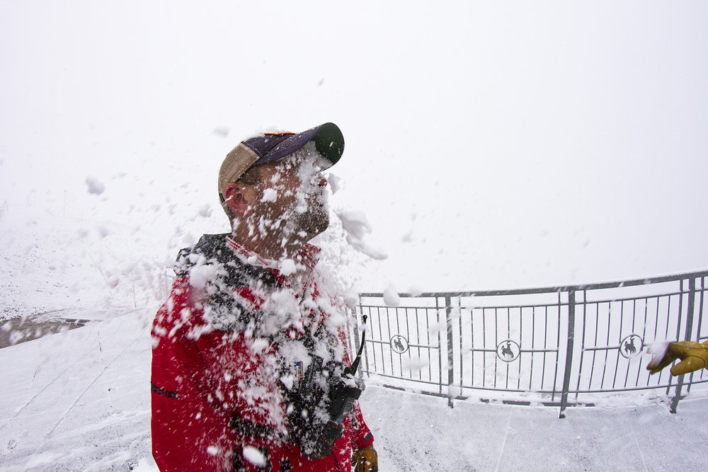 Snow atop Jackson Hole has employees fired up and firing snowballs. - ©Jackson Hole Mountain Resort