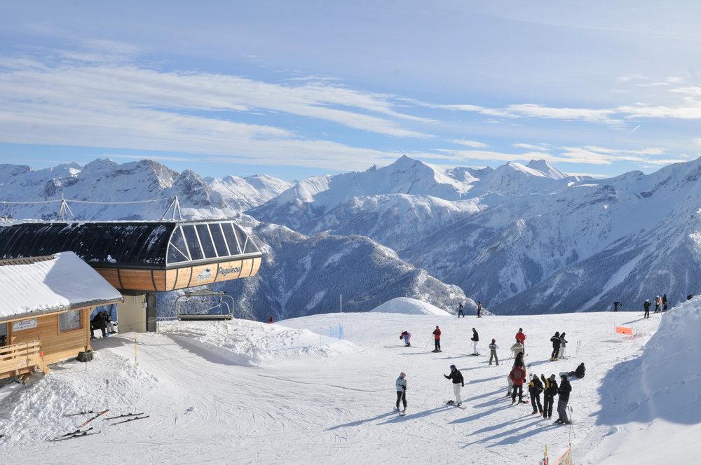 Sur les pistes de ski de Praloup - © Bertrand Bodin / OT de Praloup