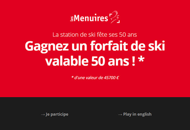 50 years Les Menuires game - ©Office de Tourisme des Menuires