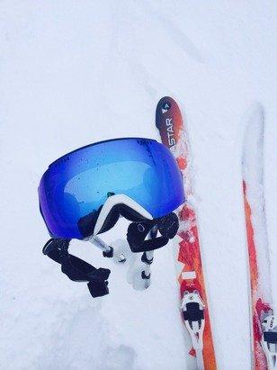 Jackson getting pounded again !  Skied Teton pass today to knee deep snow .........