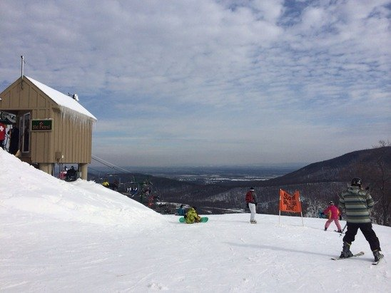 Decent conditions today. Glad to be out on the slopes!