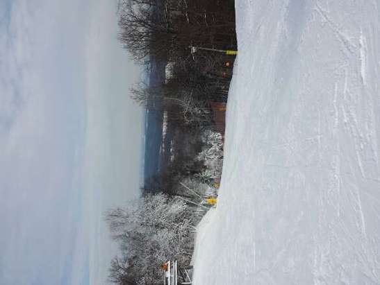 Had a great start to my season here yesterday. Snow wasn't bad for this early in the season and it wasn't crowded at all