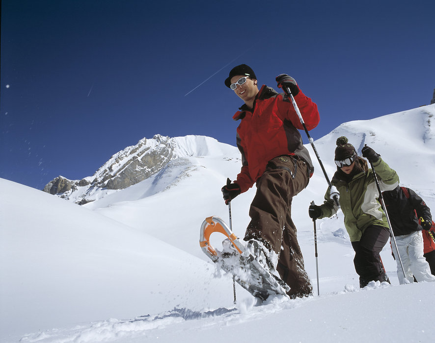 Snowshoers at Adelboden.