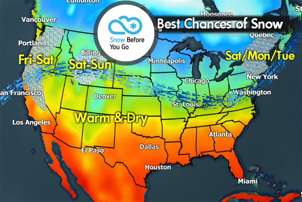 Snow Before You Go: Snowfall Continues for Western Resorts - © Meteorologist Chris Tomer
