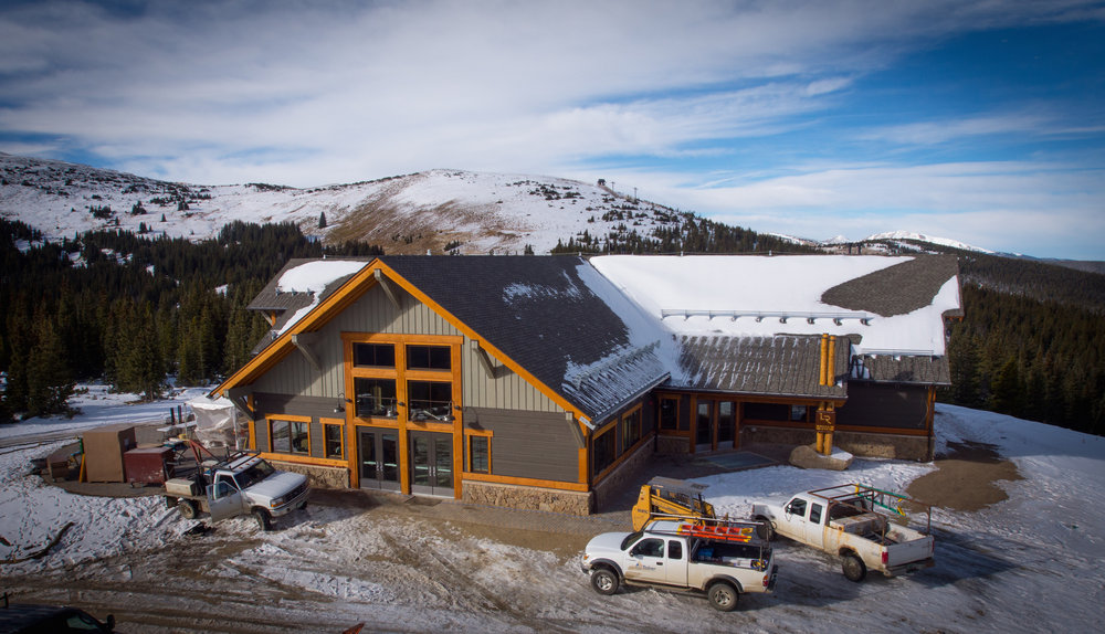 New Lunch Rock Restaurant under construction this fall at the summit of Mary Jane. - © Winter Park Resort