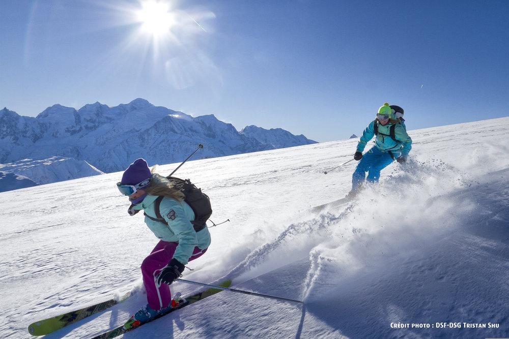 Grand ski sur les pistes de Samëns... - © OT de Samoëns / Tristan SHU
