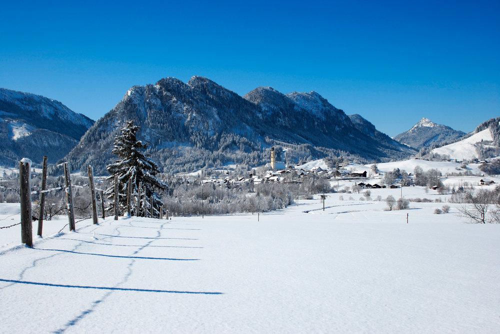 Winterlandschaft in Pfronten - © Pfronten Tourismus