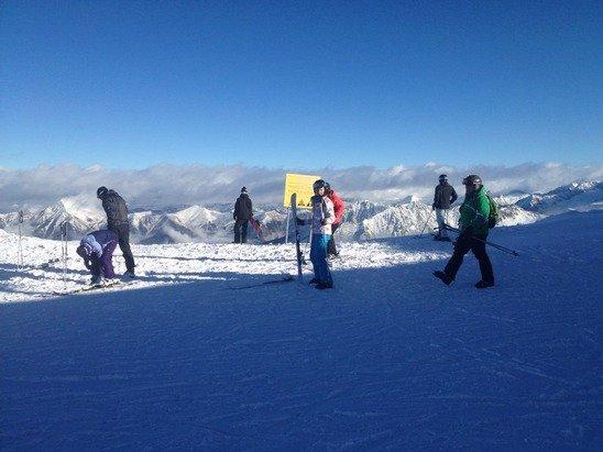 Perfekte Schnee -bzw. Pistenverhältnisse und für Sonnabend vertretbarer Andrang