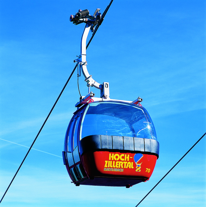 A gondola at Hoch-Zillertal, AUT