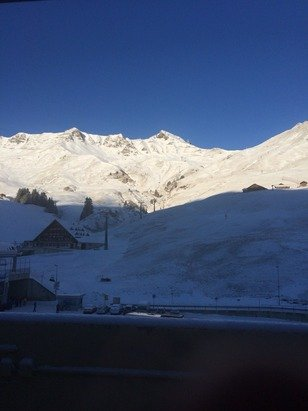 Snowed all last night, and hopefully expecting some more snow tomorrow, early morning now, the Suns just about rising so we're getting ready for a lovely warm day on the slopes :)