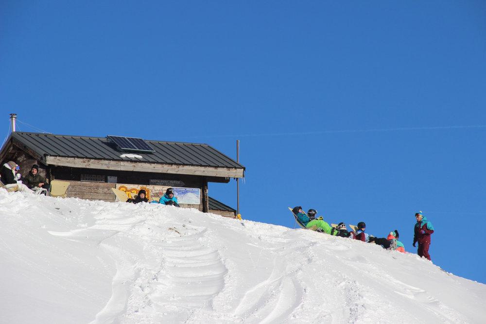 Pause détente sur le domaine skiable de Valfrejus - © OZ/OT Valfréjus