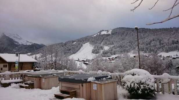 big dump in morzine. snow everywhere