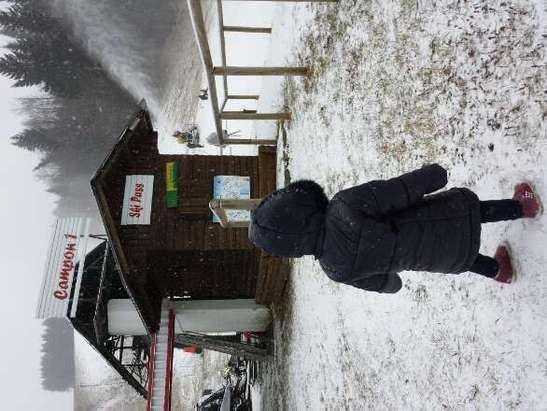 Da stamattina continua incessantemente a nevicare. In aiuto a ciò sparavano anche con i cannoni.