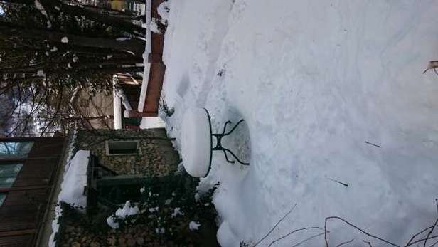 Yesterday it snowed the entire day while today sun is shining :-)