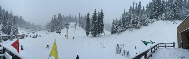 Day 2 was much better than opening day. Several inches of new snow made it an amazing day to ski.