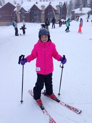First time ever skiing