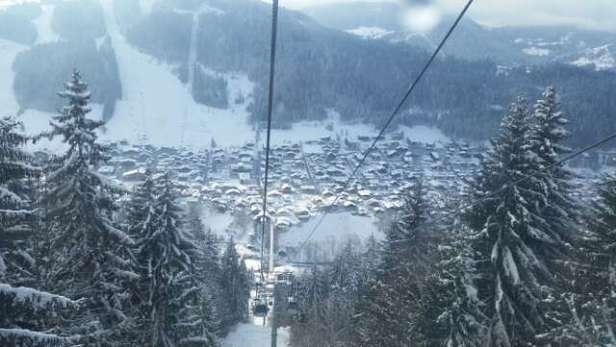 Morzine and Avoriaz looking good. A little rocky and grassy in places but manageable. very busy lifts in Morzine though.  Avoriaz skiing is fantastic although pretty busy.