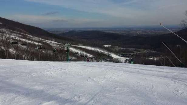 Nice weather and good ski condition.  just a couple icy spots