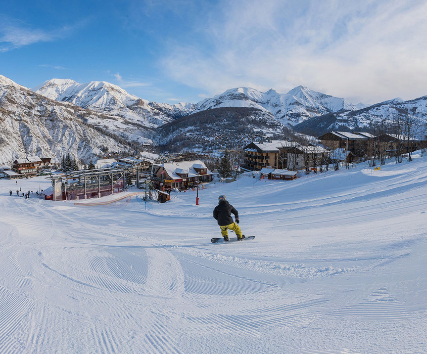 Plaisirs de la glisse sur le domaine skiable de Val d'Allos le Seignus - © R. Palomba / OT du Val d'Allos