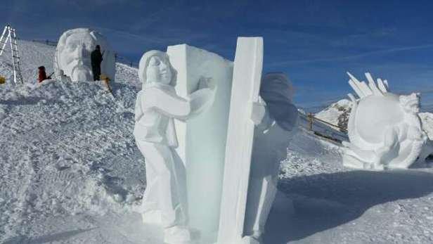 neve spettacolare in alto, solo artificiale sotto i 2000 m.