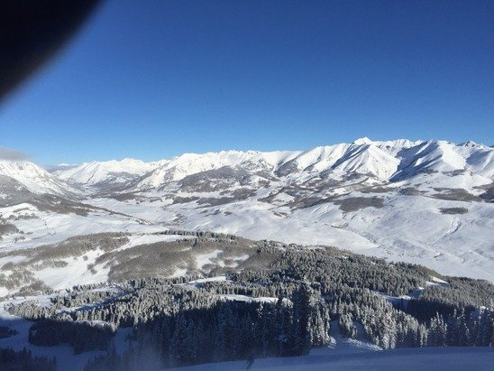 from the top of international! great skiing! gotta love CB!