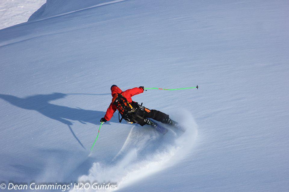 Skier Dean Cummings gets first tracks. - © Josh Cooley