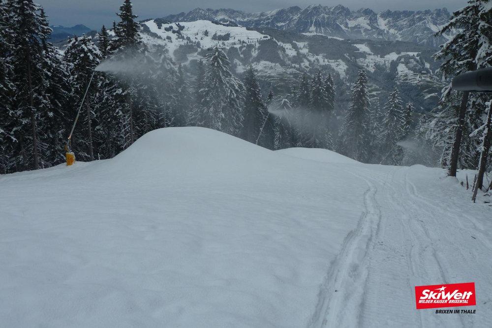 Die SkiWelt Wilder Kaiser kann dank ergiebiger Beschneiung ihre Liftanlagen zum einem großen Teil öffnen - © SkiWelt Wilder Kaiser Brixental