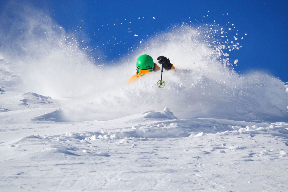 Bluebird skies and powder? A great combination at Sun Valley. - © Cody Haskell